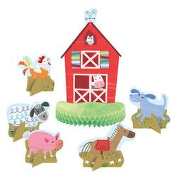 6 Farm Party Centerpieces Table Decorations Fun Animals Barn