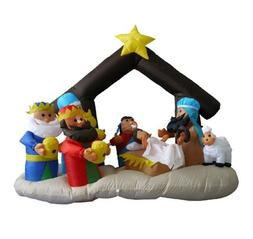 6 Foot Christmas Inflatable Nativity Scene with Three Kings