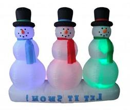 6 Foot Christmas Inflatable Snowman on Snow Yard Garden Deco