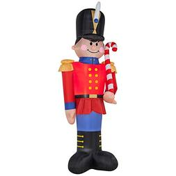 6 Foot Christmas Inflatables Nutcracker Toy Soldier Carrying