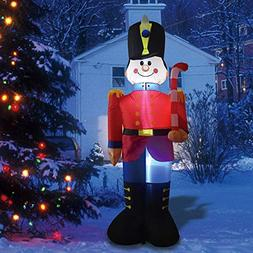 Phoenixreal 6 Foot Christmas Inflatables Nutcracker Toy Sold