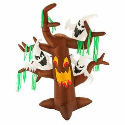 Halloween Haunters 6 Foot Inflatable Scary Face Dead Tree wi