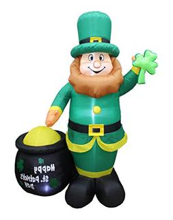 BZB Goods 6 Foot Tall Lighted St Patricks Day Inflatable Lep