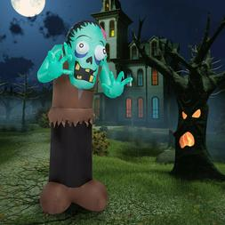6 Ft Halloween Inflatable Ghost Zombie Air Blown LED Light Y