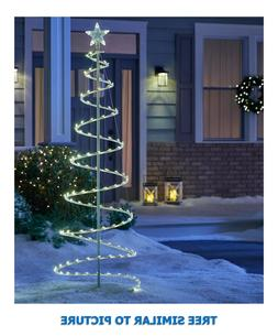 6-FT HIGH FREESTANDING SPIRAL TREE w/200 CLEAR INCANDESCENT