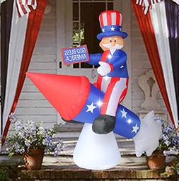 SEASONBLOW 6 Ft Patriotic Independence Day/Flag Day Inflatab