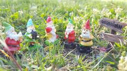 6 Set Fairy Garden Gnomes Miniature Welcome Yard Lawn Decor