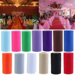"6""x 25YD Tulle Roll Spool Tutu Wedding Party Gift Wrap Fabri"