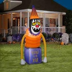 "Gemmy 60"" Halloween Creepy Clown AIrblown Inflatable Lighted"