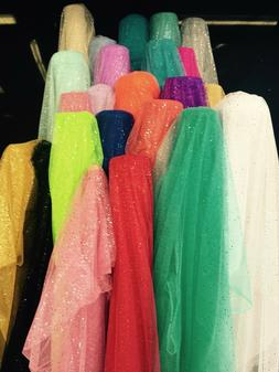 60 Inch wide Glitter Mesh Sequins Tulle Fabric by Yard Craft