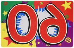 60TH BIRTHDAY SIGN FOR YARD OR PARTY WALL DECORATION