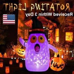 63Inch Halloween Inflatable Ghost Pumpkin Lantern LED Rotati