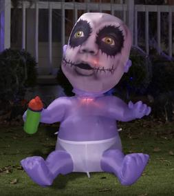 "65"" Gemmy Halloween Animated Zombie Baby Airblown Inflatable"