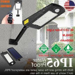 66 LED Solar Power Motion Sensor Light Outdoor Yard Garden W
