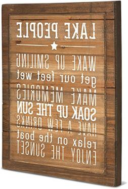 Pavilion Gift Company 67217 We People Lake People Rules Sign