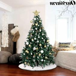 6ft Artificial Flocked Snow Christmas Tree with Stand 1000 T