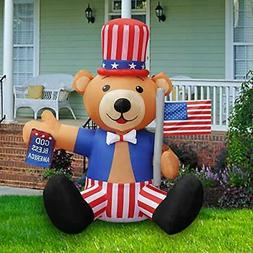 BLOWOUT FUN 6ft Tall Patriotic Independence Day 4th of July