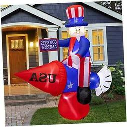 6FT Tall Patriotic Independence Day 4th of July Inflatable U