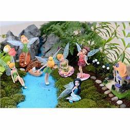 6pcs Flower Pixie Fairy Miniature Figurine Garden Ornament I