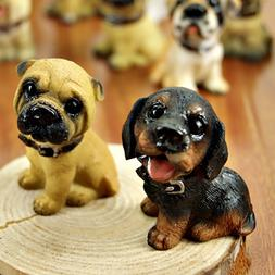 6Pcs Miniature Fairy Resin Dogs Looking You Fondly Garden <f