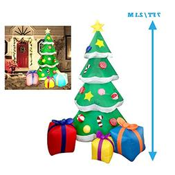 Joiedomi 7 Foot LED Light Up Giant Christmas Tree Inflatable