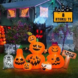 8' LIGHTED Airblown INFLATABLE Halloween PUMPKIN PATCH Outdo