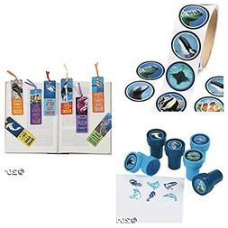 72 OCEAN Life PARTY Favors - 24 INK STAMPERS -24 Bookmarks 2