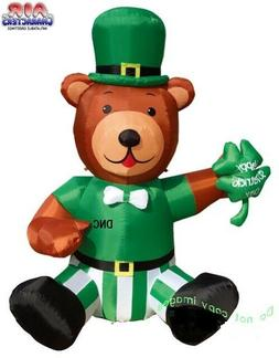 "72"" St Patrick's Day Leprechaun Bear & Shamrock Air Blown In"
