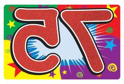 75TH BIRTHDAY SIGN FOR YARD OR PARTY WALL DECORATION