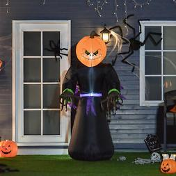 7ft  Halloween Airblown Inflatable Pumpkin Reaper Ghost Outd
