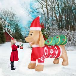 VIVOHOME 7ft Long Christmas Inflatable Dog Tree Outdoor Airb
