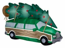Gemmy 8' Christmas Vacation Station Wagon Airblown Christmas