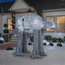 8 Ft STAR WARS AT-AT WALKER WITH CHRISTMAS LIGHTS Airblown Y