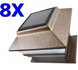 8 Outdoor 4X4 Garden Solar Copper Post Deck Cap Square Fence