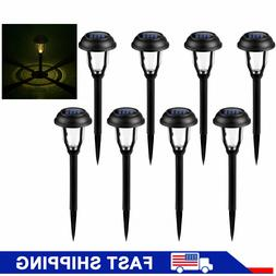 8Pcs Solar Powered LED Lights Outdoor Garden Pathway Landsca