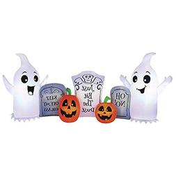 Pumpkin Hollow 8' W x 3.5' H Fun Ghost and Tombstone Inflata