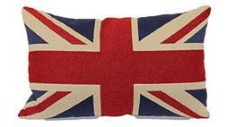 Brentwood Originals 8377 Union Jack Tapestry Toss Pillow, 13