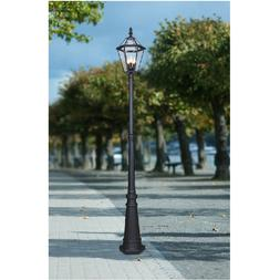 89-inch Lamp-Post Black Mount Decorative Outdoor Yard Street