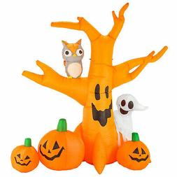 Halloween Haunters 8ft Inflatable Haunted Dead Tree Ghost Pu