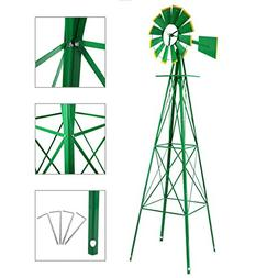 8ft.Ornamental Garden Windmill,Weather Vane Weather Resistan
