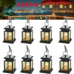 8X Solar Lantern Hanging Light LED Outdoor Garden Yard Water
