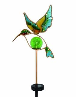 Moonrays 91444 Solar Powered Garden Glass Hummingbird Stake
