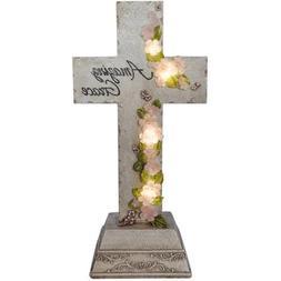 Moonrays 91560 Solar Powered White LED Amazing Grace Cross