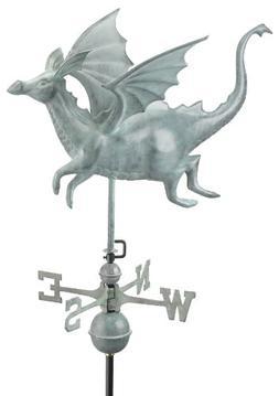 Good Directions 9672V1 Dragon Weathervane, Blue Verde Copper