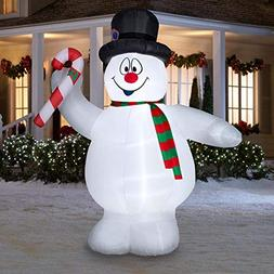 Gemmy 9Ft. Inflatable Frosty The Snowman with Candy Cane Ind