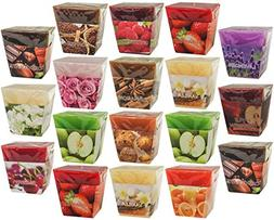 All2shop Scented Votive Candles Set of 18 Assorted Pure Scen