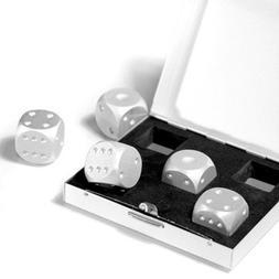 Aluminum Dice 5 in 1 Set Travel Case Deluxe Gift Souvenir