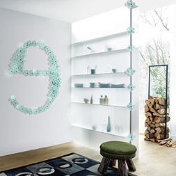 Amaonm® 12 Pcs 3d Beautiful Flowers Wall Decals Fashion Wal