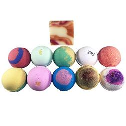 Amor Bath Bombs, Free Soap Bar Included, All Natural Essenti