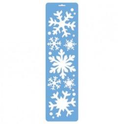 Amscan Christmas Window Decoration Snowflakes Spray Stencils